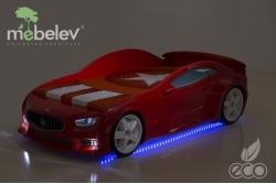 """Детская кровать-машина EVO """"Мазератти"""" красная."""