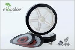 Объемные пластиковые колеса для кроватки-машинки серии UNO.