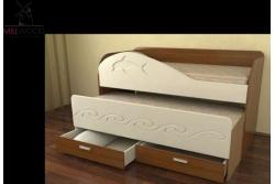 Кровать выдвижная 2х уровневая Neo3.
