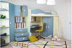 Детская кровать-чердак Радуга 2