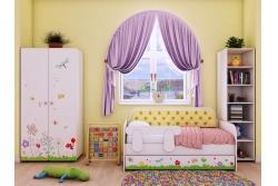 Кровать-тахта детская 160Х80 Коллекция Цветочные сны .