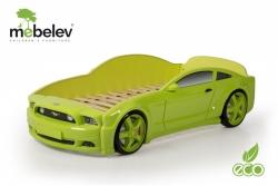 """Кровать-машина детская """"Мустанг"""" 3D зеленая."""