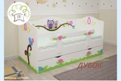 Кровать детская Совушки (фабрика Дубок).