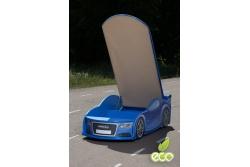 Детская кроватка-машинка Ауди A6 Blue с подсветкой фар.