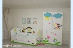 Кровать детская Щенки (фабрика Дубок).