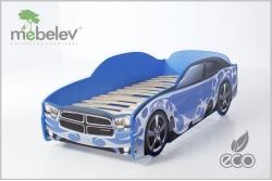 """Кровать-машина """"Додж-М"""" синий."""
