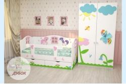 Кровать детская Маленькие Пони (фабрика Дубок).