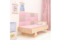 Кровать детская Мозаика (розовый цвет)..