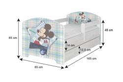 """Кровать детская с бортиками Oskar X """"Принц и принцесса"""" c ящиком и матрасом."""