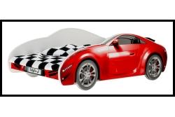 Детская кровать-машина BabyBoo AUTO S-CAR 150x75 с матрасом цвет красный.