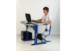 Парта трансформер ДЭМИ (СУТ.14-01) (синий,клен) парта+стул.