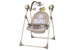 Детские качели для новорожденных Baby Mix SW-102 RC беж . Сетевой адаптер и пульт ДУ в комплекте!!!!