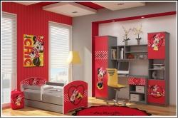 """Кровать детская Oskar Disney """"Сердце Минни"""" с ящиком и матрасом."""