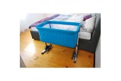 Детская приставная кроватка Milly Mally Side by side ( с функцией колыбели) цвет океан.