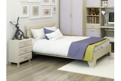 Кровать подростковая  арт. КР-114 беленый дуб.