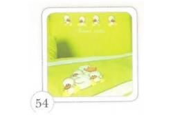 Комплект в кроватку Tuttolina Four Duck 53 ( 54  зеленый, 55 желтый, 56 голубой) ) ) (7 предметов)