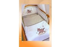 Комплект в кроватку Ankras коллекция Лошадка цвет бежевый