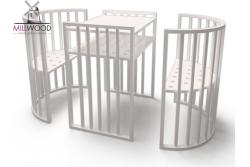 Детская кроватка круглая Кроша-3 (7 в 1).