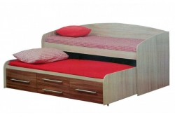 Кровать детская Адель-5 с дополнительным спальным местом (цвет дуб линдберг).