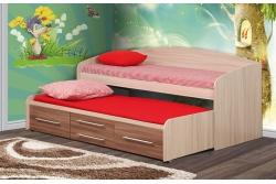 Кровать детская Адель-5 с дополнительным спальным местом (цвет ясень шимо).