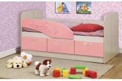Кровать детская Дельфин цвет розовый металлик арт. 06.222