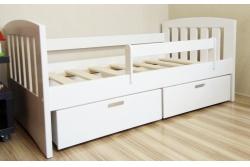 Кровать от 3х лет детская Алиса с подкроватными ящиками и бортиком безопасности.