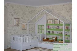 Кровать домик Бунгало (массив сосны).