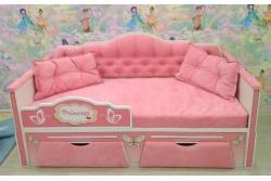 Кровать детская от 3х лет серия Иллюзия цвет розовый 160Х80