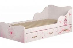 Кровать детская Принцесса-5 с подкроватными ящиками.