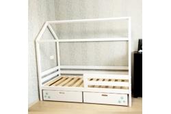 Кровать Домик модель 02 (Бортик безопасности в комплекте).