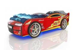 Кровать машина Romack Kiddy Ferrari red - молния.
