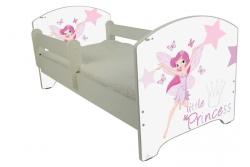 """Кровать детская от 3-х лет Oskar """"Маленькая принцесса"""" с бортиками и матрасом."""
