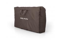 Детская приставная кроватка Milly Mally Side by side ( с функцией колыбели) цвет кофе.
