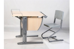 Парта трансформер ДЭМИ, стул пластик(СУТ.14-01) (серый,клен) парта+стул.