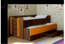 Кровать выдвижная 2х уровневая Neo1.