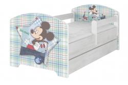 """Кровать детская с бортиками и ящиком Oskar X  Disney """"Микки Маус""""+ матрас."""