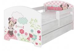 """Кровать детская с бортиками Oskar X  Disney """"Минни"""" с ящиком и матрасом."""
