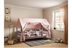 Кровать домик Соня Лаванда с бортиками (массив сосны)