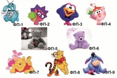 """Кровать детская от 3-х лет """"Малышок"""" арт.МЛ-1ПФ коллекция """"Мишка Тедди""""."""