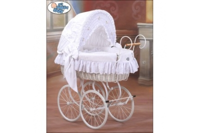 "Колыбель детская плетеная My Sweet Baby ""RETRO"" (белый)."